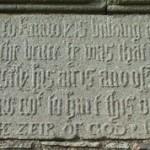 Muness Castle Door Inscription