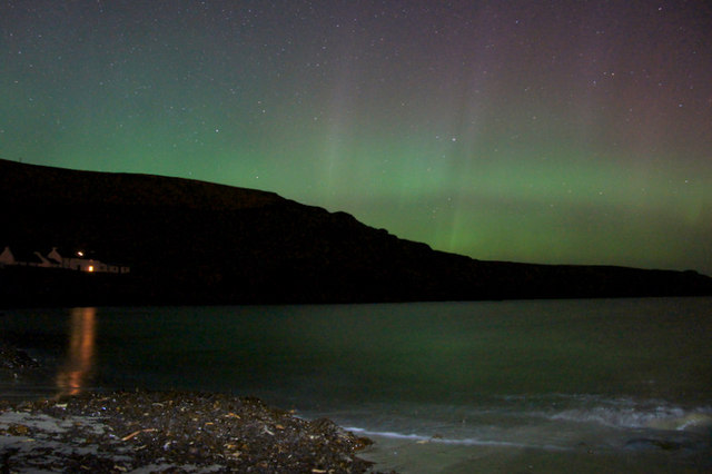 Aurora over Norwick in March