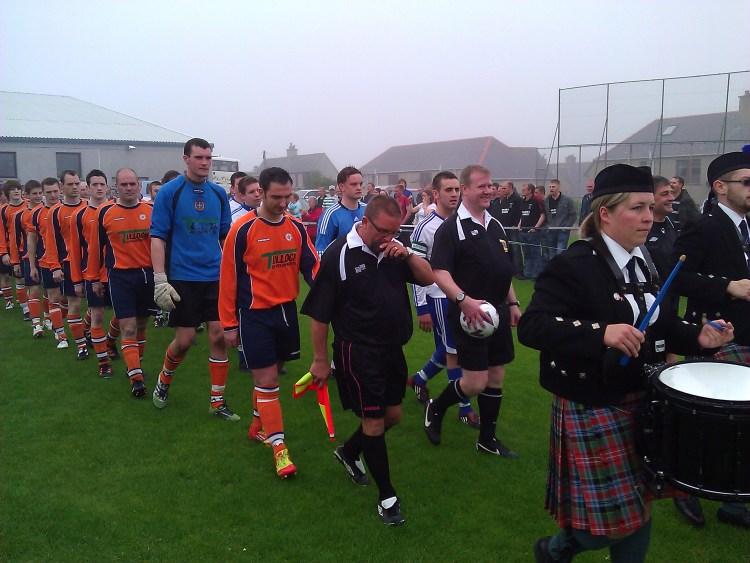 Unst FC Win The 2012 Parish Cup