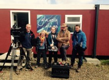 Cheryl with BBC Film Crew!