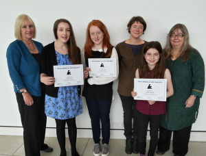 Young Writers Winners - Merran Ritch on the right.
